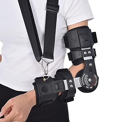 Zyxdk Flexión Extensión Ajustable con Bisagras Codo Ortopédico, Brazo Férula de Soporte por Lesión en Codo Inmovilizador Estabilizador de Órtesis, Telescópico para Codo de Control (Color : Right)