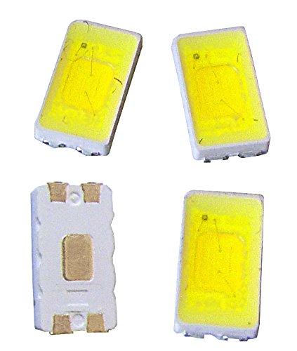DURIS® 5630/5730 SMT - Juego de 100 bombillas led (E5, 3000 K, CRI 95 GW JDSMS1.CC 0,5 W, calidad de la marca 5630/5730 SMT)