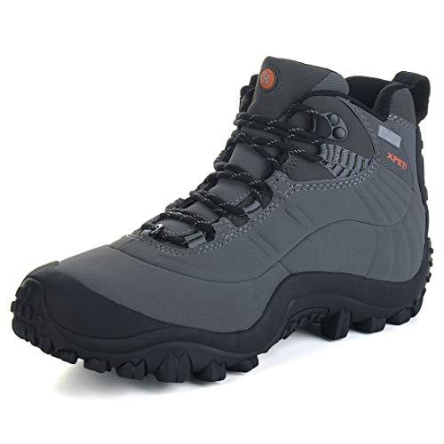 Manfen Men's Thermator Mid-Rise Waterproof Hiking Boots Trekking Outdoor Boots