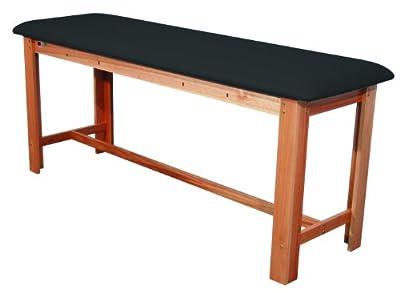 "3B Scientific W15074B Black Hardwood Classic Exam Treatment Table with H-Brace, 74.8"" Length x 24.4"" Width x 33.1"" Height"