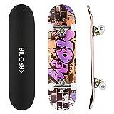 CAROMA Skateboard für Anfänger, 31 Zoll 9 Lagen Maple Deck Pro...