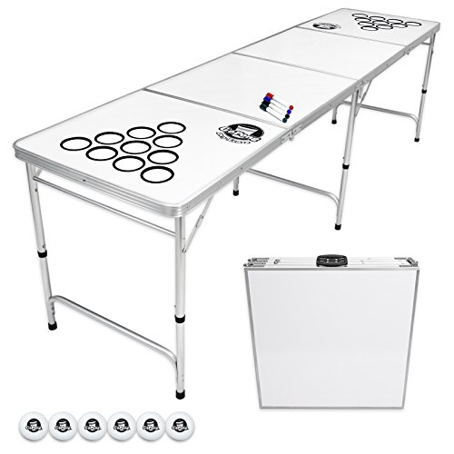 Discover Bargain GoPong 8 Foot Beer Pong Table with Customizable Dry Erase Surface