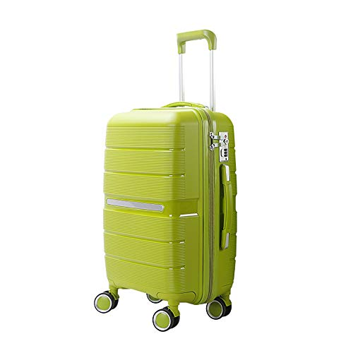 YASB Universal Wheels Lightweight Luggage Can Withstand 100KG,Impact Resistance And Drop Resistance Suitcase,Green,L