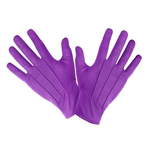 Widmann 1466V – kurze Handschuhe, lila, ca. 23cm, Accessoire, Kombiniermöglichkeit, Clown Kostüm, Zauberer Kostüm, Motto Party, Karneval