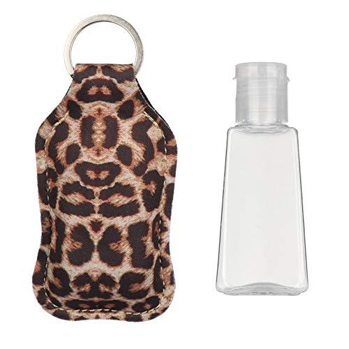 2Ajuste 30ml Vacío Desinfectante De La Mano Llavero Titular De La Botella Rellenable Viaje Contenedores Tirón Botellas Reutilizables con Llavero Cap Carrier (Color : Type 16, Size : 2 Set)