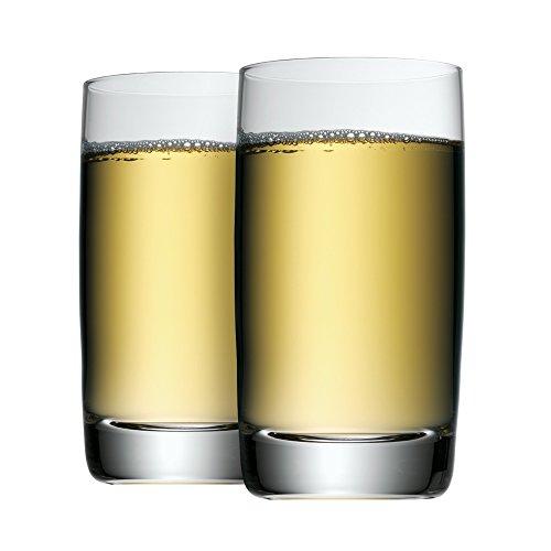 WMF Clever & More Saftgläser Set 2 teilig, Trinkglas 250ml, Kristallglas, spülmaschinengeeignet
