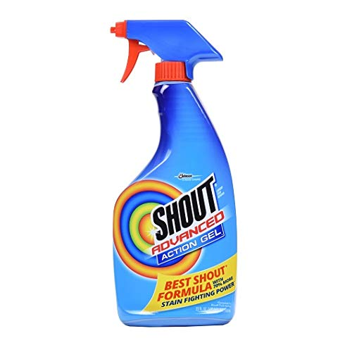 Advanced Stain Remover Gel 22 Ounces/Concentrated Gel/Spray Bottle (2 PACK) -  Shout