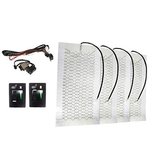 Fransande - 4 piezas para calefacción de asiento de coche de 12 V con interruptor de 5 niveles con 2 esferas para Prado Corolla RAV4 REIZ Yaris