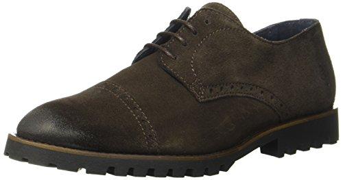 Marc O'Polo Herren Lace up Shoe Oxfords, Braun (Dark Brown), 44 EU