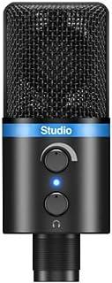 IK Multimedia iRig Mic Studio (Black) - Portable Large-Diaphragm Digital Microphone