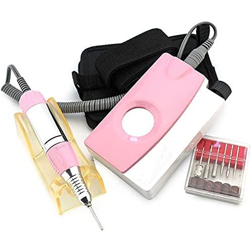 HXDZ Dossier à Ongles motorisé, 25 000 TR/Min Chargeur portatif décapant de Vernis à Ongles kit de manucure à Ongles avec Ceinture de sécurité pour Ongles acryliques et Belt Bag