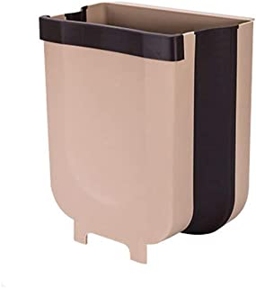 Hanging Trash Can for Kitchen Cabinet Door, Collapsible Trash Bin Small Compact Garbage Can Attached to Cabinet Door Kitch...