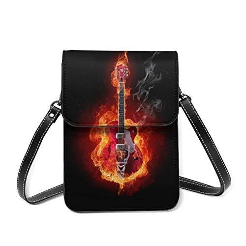 Piccola borsa a tracolla, bella chitarra sintetizzatore borsa a tracolla cellulare portafoglio borsa leggera Crossbody borse per donne ragazza