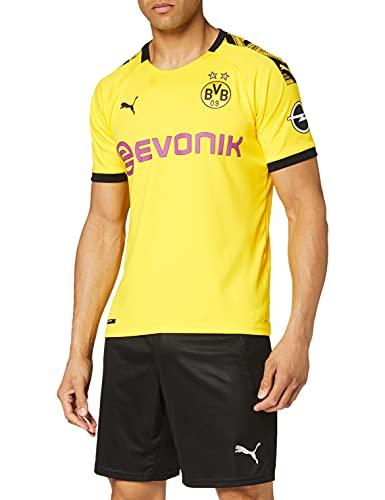 Puma Herren BVB Home Shirt Replica with Ev Trikot, Cyber Yellow Black, M