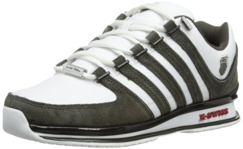 K-Swiss Herren Rinzler SP~White/Beluga/Black/RED~M Low-Top, Weiß (white/beluga/black/red/195), 42 EU