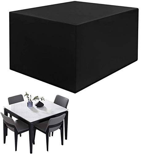 YFMMM Patio Furniture Covers, Waterproof Patio Furniture Set Covers,Heavy Duty Outdoor Sectional Sofa Covers for Rectangular UV for Patio Gas Fire Pit Furniture,Black_255x255x80cm