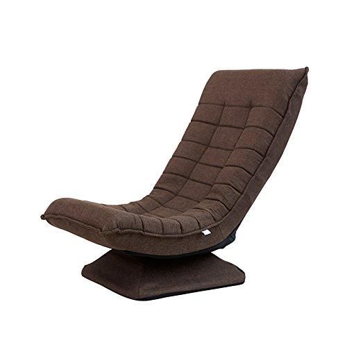 ch-AIR Zhaizhen Schaukelliege Sofa drehbar Stoff Kunst Freizeit Lazy Faltbare Liege Blau \Braun \Rot \ Khaki für den Garten braun