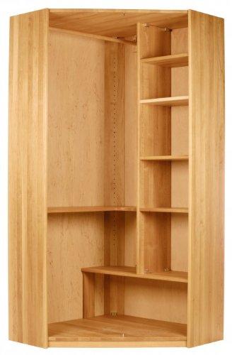 BioKinder 22143 Lara garderobekast kinderhoekkast massief hout elzen 200 x 134 x 95 cm
