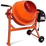 vidaXL 141200- Hormigonera eléctrica de acero, 63L, 220W, color naranja
