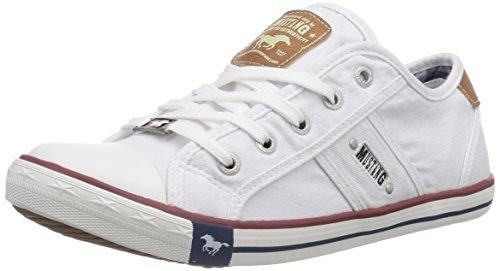 Mustang Damen 1099-302-1 Sneaker, Weiß (weiß 1), 37 EU