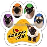 足跡型マグネット『シャム猫大好き』Siamese Cats