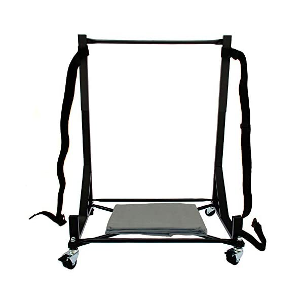 Heavy-duty Hardtop Stand Storage Cart (Black) with Securing Strap and Generic Hard...