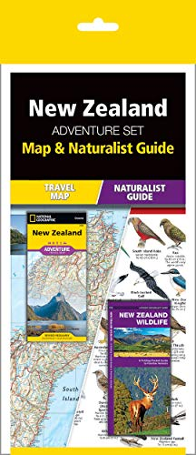 New Zealand Adventure Set: Map & Naturalist Guide