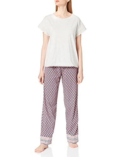 Women' Secret Short Sleeves Long Pant Pyjama Pijama, Marengo, XL para Mujer