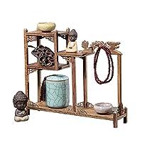 彫刻作品展示スタンド、ディスプレイスタンド装飾、スタイリッシュで繊細なアイテムが装飾的な木製の陳列台,Two