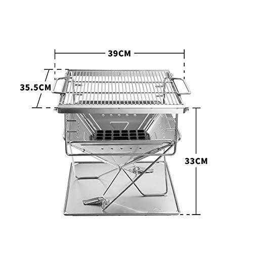 41E9jfz4MvL - ZXIAQI Grill Werkzeug Tragbare Edelstahl BBQ Grill Klapp Grill Im Freien Grill Camping Picknick Grill Zubehör,L