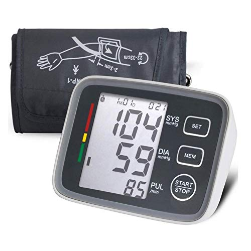 ZOUJUN Blood Pressure Monitor,Blood Pressure Machine for Home Use, Blood Pressure Monitor Large Cuff, Digital Measure Blood Pressure and Heart Rate Pulse with Large LCD Display