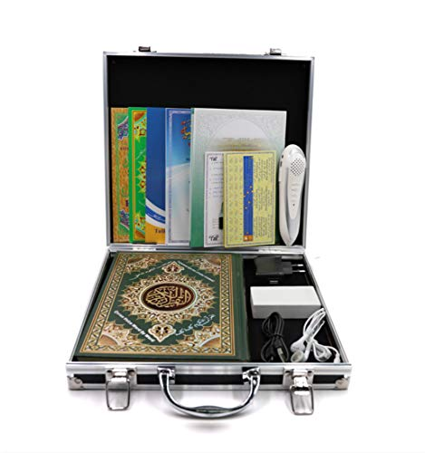 Quran Pen,8GB Memory Rechargeable Word by Word Reading Pen with 6 Holy Quran Books for Muslims Prayer Learning - M9 Ramadan Gift