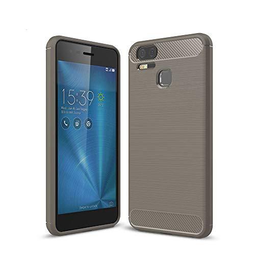 Capa para Asus ZenFone 3 ZE553KL, capa traseira de fibra de carbono ultrafina com amortecimento em TPU (poliuretano termoplástico)