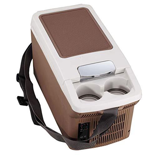 QHENS Warmhaltebox Auto Kühlschrank Kühlbox 6L Elektrisch Tragbare Mobile Kleiner Kühlboxen DC12V/AC220-240V, AutoküHlschrank für Autos, Camping, Reise, Haus, Büro, Apotheke