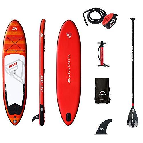 WangXL Opblaasbare stand-up padddle board, met verstelbare peddel, antislip deksel, premium sup accessoires, dual action pomp, veiligheidsenkelriem, 5 inch dik, 144 inch lang