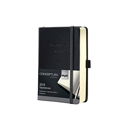 Sigel C1911 Agenda diaria 2019 CONCEPTUM, tapa dura, 10,8 x 15,1 cm, color negro