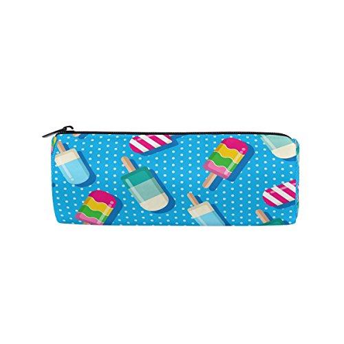Jeansame Pencil Cases Bag Pouch Box Houder voor School Kids Meisjes Jongens Zomer Blauw IJs