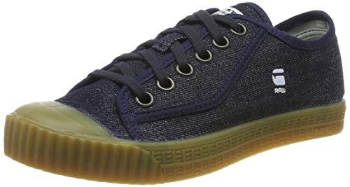 G-STAR RAW Damen Rovulc Denim Low Sneakers Sneaker, Blau (Blue (Dk Navy 881) 881), 38 EU