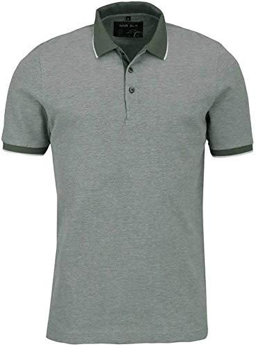 Marvelis Halbarm Poloshirt geknöpfter Kragen Pique Oliv Größe M