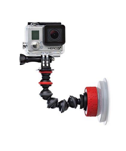 JOBY JB01329-BWW Saugnapf und GorillaPod Arm (für GoPro/Action-Video-Kameras, Saugnapfhalterung für Action Cams, Quick-Twist-Lock für Einfache Einrichtung) schwarz