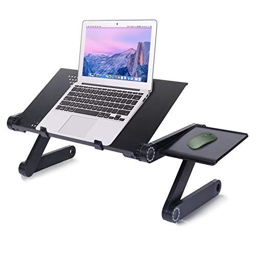 arvioo Mesa Ordenador Portatil Plegable Escritorio Plegable Ajustable para PC Soporte computadora Aluminio Laptop Mesa Bandeja Cama Sofá con Soporte de Ratón (003)