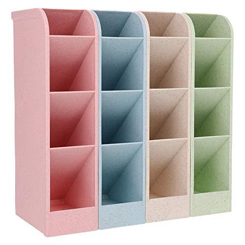 Opopark 4 Colores Caja de Almacenamiento de Escritorio, Portalápices Multifuncional, Organizador de Escritorio para Lápices