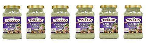 6x Star Tigullio Pesto Carciofi e noci Sauce Soße Artischocken und Nüsse 185g