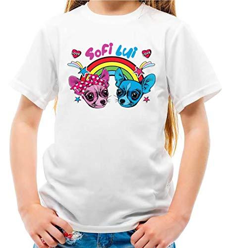 Nuova Maglietta Youtuber Lui e Sofi Slime Lab Bambina e Bambino (5-6 Anni)