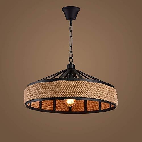 JYDQM Lámpara de Techo Colgante de Cuerda de cáñamo Lámpara de araña Retro Lámparas de araña Arte Decorativo Antiguo Sala de Estar Comedor Cocina Restaurante