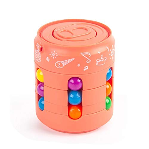 Magic Bean Rotating Cube Toy, Intelligence Magic Bean rotierendes Spielzeug Intelligence Fingertip Lernspielzeug Stressabbau-Würfel Spiel für Kinder und Erwachsene