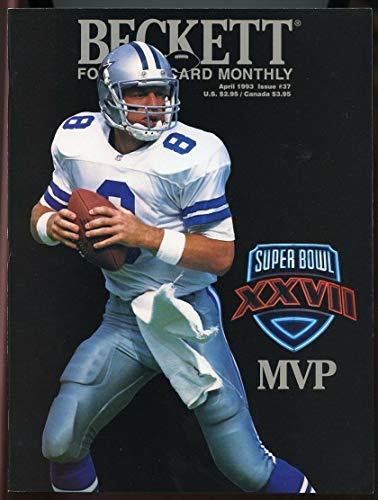 Beckett Football Card Monthly #37 April 1993 Troy Aikman Super Bowl XXVII MVP VG
