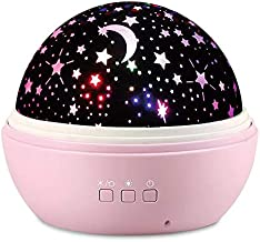 Kids Star Night Projector Lamp - Baby Nursery Night Light Desk Lamp with 8 Light Color USB 360 Degree Rotating Star Projector Gifts for Baby Kid Children Bedroom Birthday Party Christmas Decorations