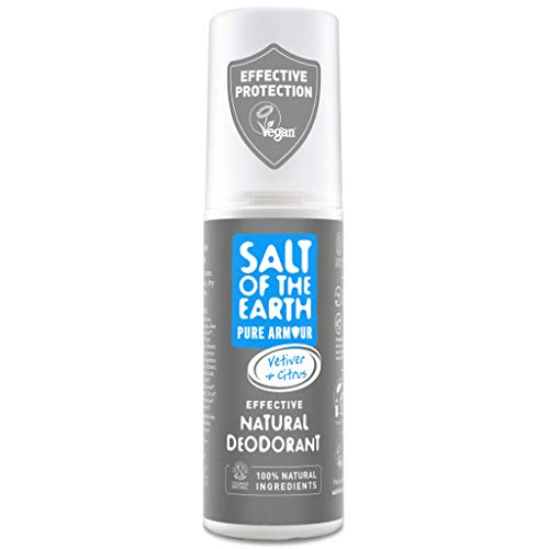 Crystal Spring Salt of the Earth Pure Armour Explorer Effective Natural Deodorant For Men 100ml. Vegan Vegetarian Society Approved