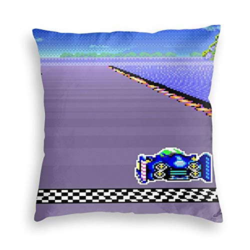 Lhgs5sv F-Zero SNES Colors Velvet Throw Pillow Covers Both Sides Sofa Square Cushion Cover Pillow Case with Zipper 18x18inch